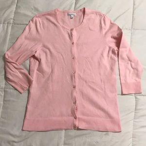 Croft & Barrow Pink Button Down Sweater Cardigan